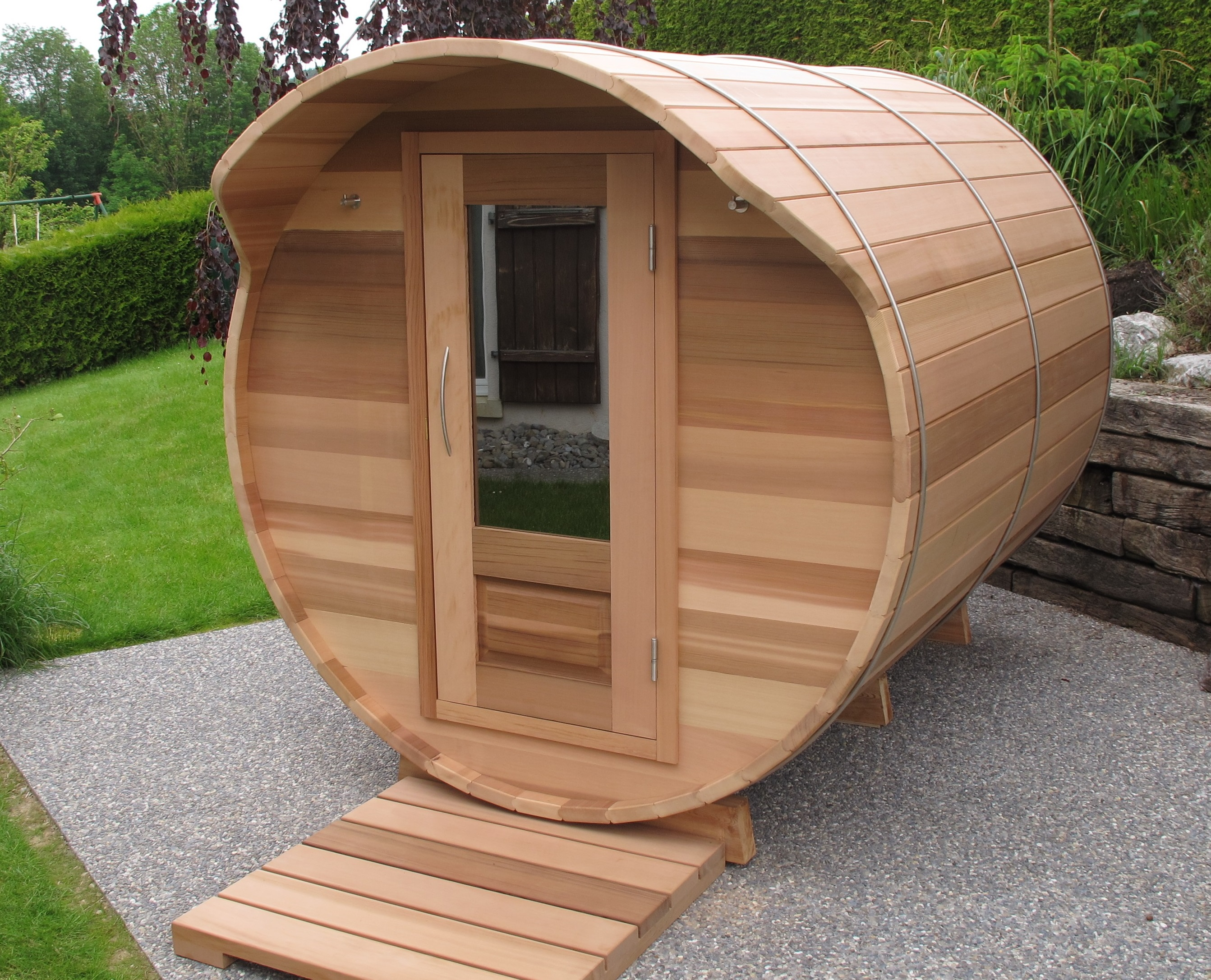 Equali spa nature d 39 ext rieur for Sauna d exterieur