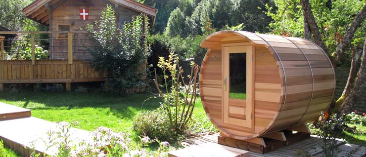 Saunas ext rieur equali for Sauna infrarouge exterieur